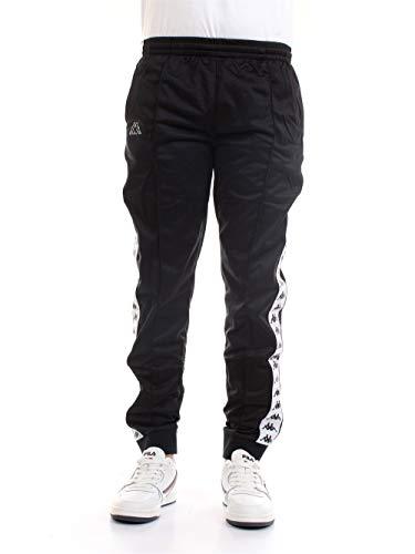 Kappa - Rastoria Slim Authentic - Pantaloni unisex Nero Bianco XL