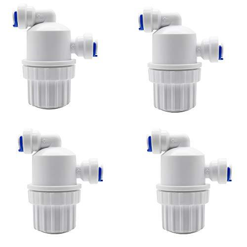 Roestvrij stalen gaasfilter 1/4 inch Waterzuiveraar Voorzijde Snel ophalen Microfilter voor Home Garden Connectoren,4pcs