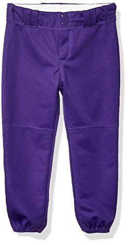 Alleson Athletic Girls Belt Loop Fastpitch Pant, Purple, Large