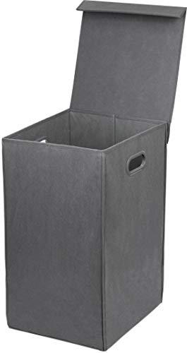 Simple Houseware Foldable Laundry Hamper Basket with Lid Dark Grey