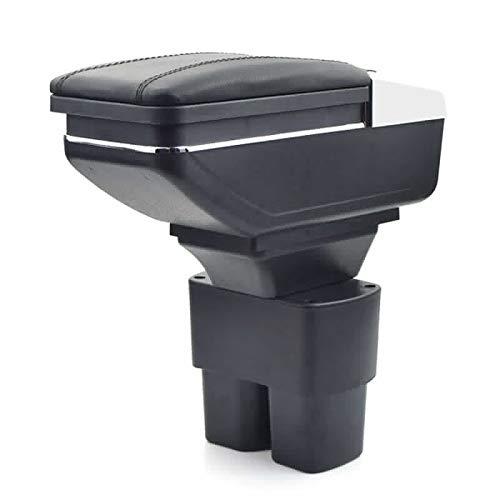 Para Nissan NV200 2010-2017 Apoyabrazos Caja de almacenamiento Coches Reposabrazos Central Negro