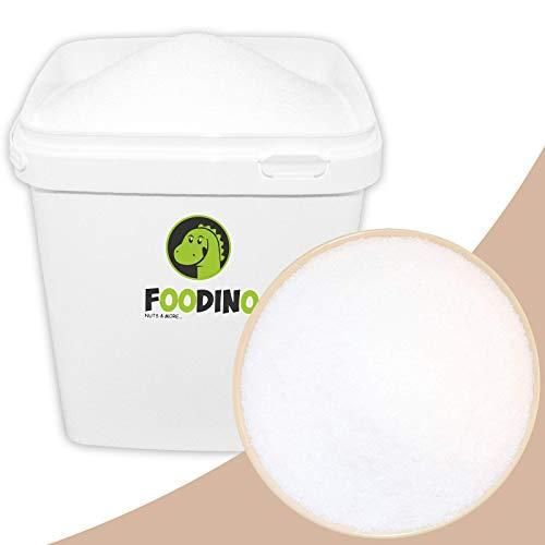 Erythrit Erythritol im Eimer Zuckerersatz Süßstoff kalorienfrei ohne Gentechnik natürliche Zuckeralternative leicht löslich 5kg zahnfreundlich 70% Süßkraft von Zucker Diabetiker geeignet Foodino