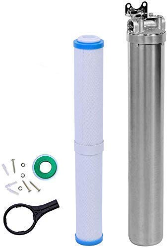 """Hansing Whole House Water Softener System Alternative - Water Descaler, Heavy Duty Hard Water Filter, Reduce Scale and Chlorine for Heater, Shower Head, Dishwasher, Kitchen Sink and Laundry, 3/4"""" FNPT"""
