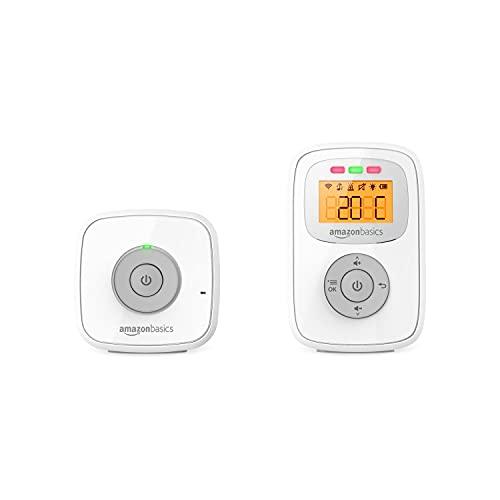 Amazon Basics - Sistema para vigilancia de bebés DECT con sensor de temperatura