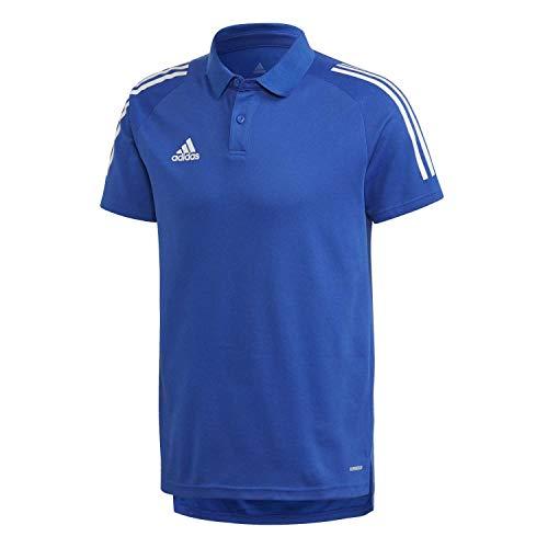 adidas Con20 Camiseta Polo, Hombre, Team Royal Blue/White, L