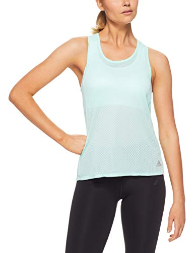 adidas Camiseta de Tirantes para Mujer, Mujer, Tanque, CY5641, Color Menta Clara/Gris Oscuro, Medium