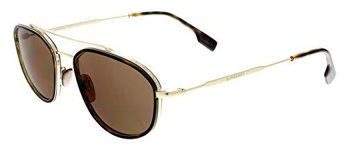Burberry BE3106-110973-56 - hombre Gafas de sol - Light Gold/Dark Havana