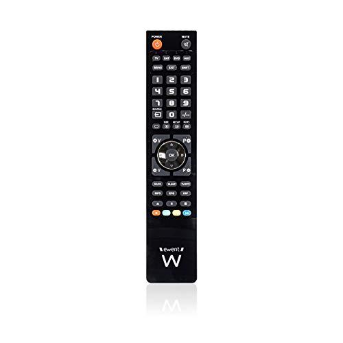 Ewent Ew1570 - Telecomando Universale 4 in 1 Programmabile da PC con Cavo Micro-Usb. per Tv, Decoder Terrestre o Satellitare, Dvd/Blu Ray, Box Multimediali