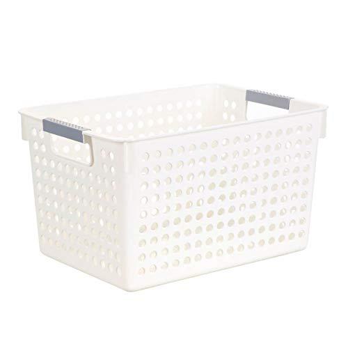 Atrumly Home - Cesta de almacenamiento de plástico para escritorio, diseño de frutas, cesta de almacenamiento para toallas de baño