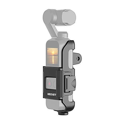 Docooler Action Cam Mount Gehäuse Schutzhülle Stativhalterung Halterung mit 1/4 Schraubenloch für DJI OSMO Pocket Handheld Gimbal Zubehör für Selfie Stick Einbeinstativ Bike Motorrad