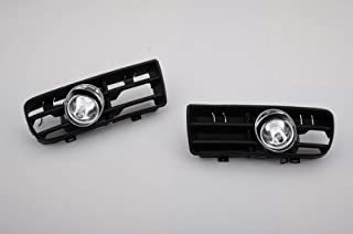autobizpro Halogen Front Fog Light Kit with Grille Insert and Wiring Loom for VW Golf MK4 2.0 VR6 GTI 1.8T