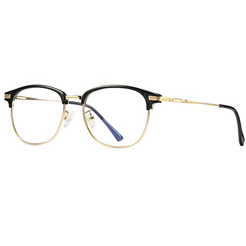 Ototon - Gafas antiluces, color azul, gafas de escritorio, antifatiga, ocular, filtro UV, montura ultraligera TR90, lente transparente para lectores de televisión, Libro de teléfono unisex