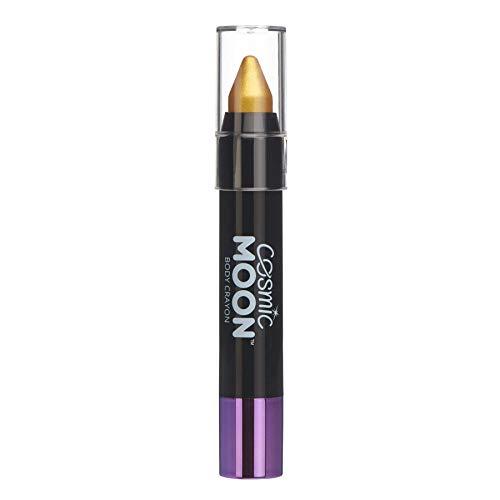 Cosmic Moon - Maquillaje Metálico de Barra de Pintura/Crayón para el Cuerpo y la Cara - 3.5g - ¡Crea fácilmente diseños metálicos como un profesional! - Dorado