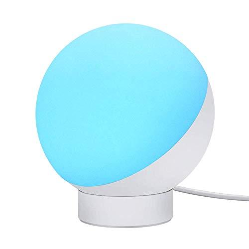 Lámpara de escritorio VIWIV Lámpara de sobremesa de bajo consumo, sue?o relajante, 5 niveles de iluminación regulable junto a la lámpara de control por voz, esencia de voz y orina, cuidado de los ojos