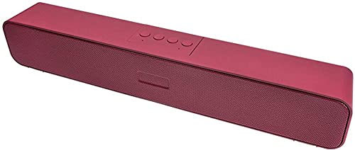 Altavoz Bluetooth portátil Altavoz inalámbrico con sonido estéreo fuerte Bass rico 12 horas tiempo de reproducción TF Lectura directa-rojo