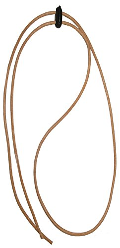 Black Jungle Black Jungle Leder Kinnriemen Hutfangband Fangband für Hut Lederriemen (Hellbraun/Tan)