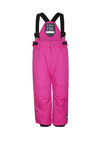 Killtec meisjes Jordy Mini skibroek/functionele broek met banden en sneeuwvanger, neon roze, 98/104