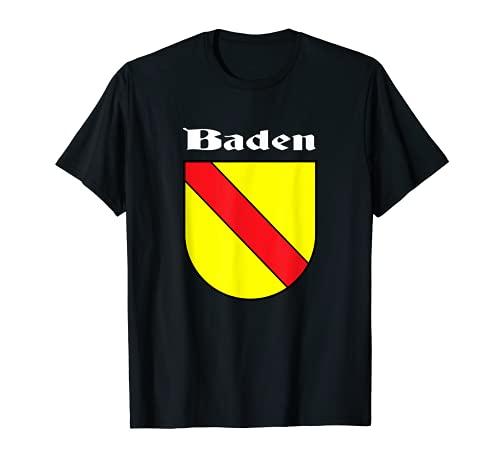 Großherzogtum Baden Württemberg Flagge badisch Badner T-Shirt