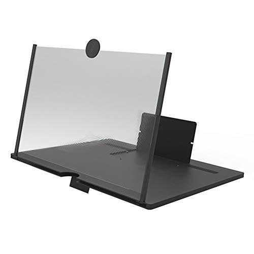 WUYUESUN Pantalla del teléfono móvil del Amplificador Proyector portátil Recorrido Que acampa de Escritorio 3D de vídeo de la película Lupa de teléfono Soporte de Apoyo