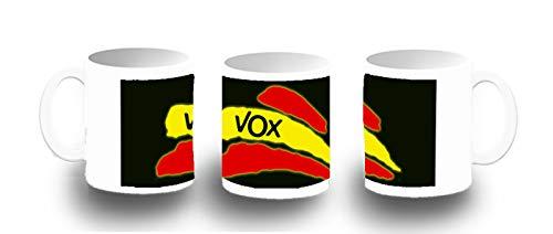 MERCHANDMANIA Taza FOTOLUMINISCENTE Bandera ESPAÑA Partido VOX Glow mug