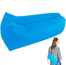 DSY Inflatable Air Lounger Chair Lazy Sofa Indoor/Outdoor Self Inflating Waterproof Blow Up Couch Tear-Resistant Holder for Camping, Beach, Park, Pool, Picnics, Blue