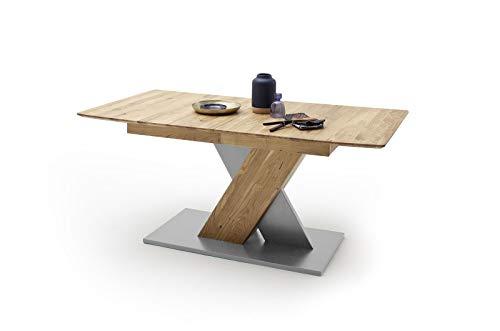 möbelando Esszimmertisch Tisch Küchentisch Massivholztisch Esstisch Cuba III Eiche/140 cm
