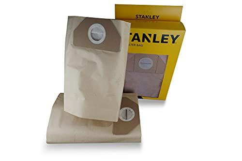 Stanley Sacchetti Filtro in Carta 35 l per Aspiratori Solidi e Liquidi