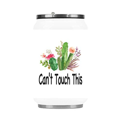 Funny Gift Mug 10.3 Ounce Fashion Stainless Steel Insulated Vacuum Travel Mug, Can't Touch This Cactus Travel Coffee Mug, Cactus Travel Cup