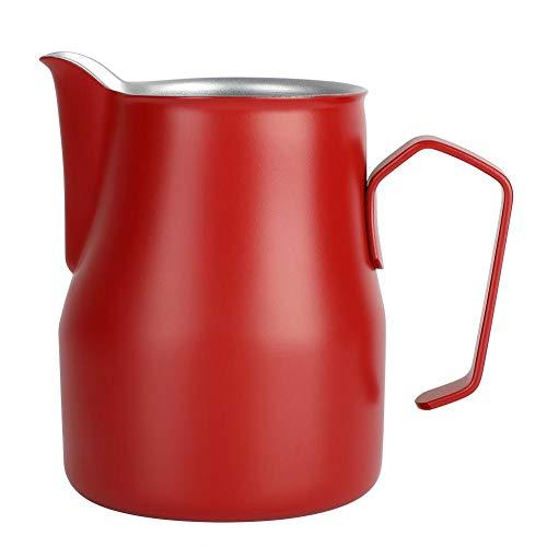 500 ml roestvrijstalen melkschuim mok koffie kruik latte Art voor koffie winkel MEHRWEG Verpakking socialme-eu rood
