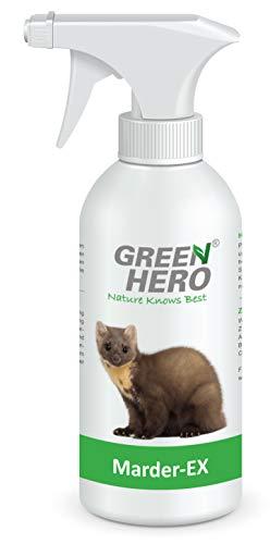 Green Hero Marder-Ex Spray gegen Marderverbiss, 500 ml, Fernhaltemittel gegen Marder für das Auto, Abwehrspray mit Barrierewirkung