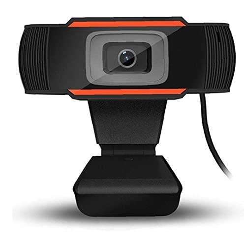 Runfon PC USB Webcam para Video Llamadas de Conferencia de grabación de la cámara Webcam con micrófono Transmisión de Ordenador Web con 120 Grados de ángulo de visión Amplio