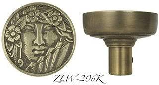 Art Nouveau Lady Face Vintage Door knob (ZLW-206K)