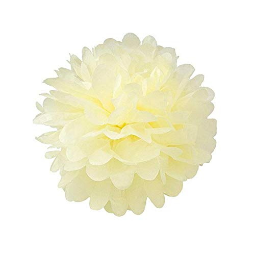 6/8/10/12 Inch Tissue Paper Pompom Garland Rustic Wedding Decor Weeding Birthday Party Supplies Girl Favors-Beige-6 Inch