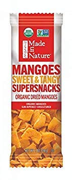 Made In Nature Organic Dried Mangoes, 1oz (10-Pack) - Non-GMO Vegan Dried Fruit Super Snack