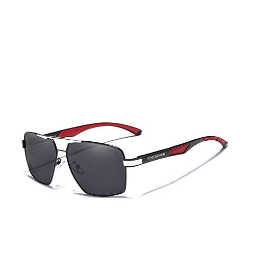 Astemdhj Gafas de Sol Sunglasses Gafas De Sol Polarizadas para Hombre, Gafas De Espejo con Revestimiento, Gafas para Hombre, Accesorios para Hombre, Gris PlateadoAnti-UV