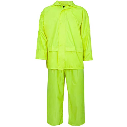 Hi Vis Viz & Plain Rainsuit Chaqueta Pantalones Alta