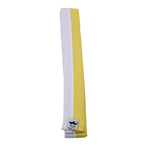 Idiytip Professioneller Taekwondo Gürtel Karate Judo Double Wrap Kampfkunst Streifen Sport Gürtel, Weiß Gelb Gürtel 250 Cm