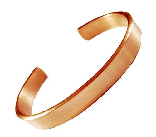mattiertes Kupfer sehr Elegantes Kupferarmband ohne Magnete Natur Armspange Armreif