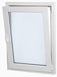 comprar comparacion Ventana PVC60cmx70cm| Perfecta para cuarto de Baño| Oscilobatiente| Alto aislamiento termico y acustico| Vidrio Opaco Cl...
