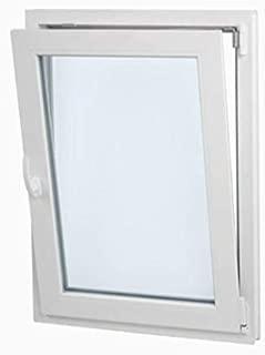 Ventana PVC  60cmx70cm| Perfecta para cuarto de Baño| Oscilobatiente| Alto aislamiento termico y acustico| Vidrio Opaco Climalit| Practicable| Resistente al sol| Resistente a humedad| Apertura Derecha