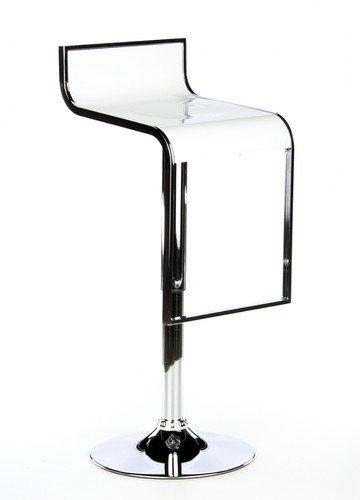 Buerostuhl24 Sgabello di Bar-Tabouret Bianco con Logo (2–Set di 2sedie