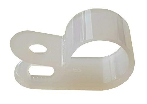 netproshop Kabelschelle 9,5mm Durchmesser Natur Polyamid 6.6 (50 Stück)