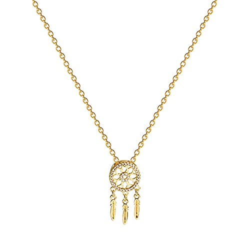 Collar Colgante Nuevo collar de atrapasueños de acero de titanio de moda...
