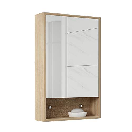 Flashing Lights Badkamerkast van hout, medicijnkastje voor bevestiging aan de deur, met spiegels, 3-rijen, eenvoudige deur