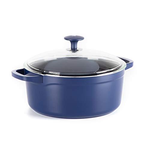 Blue Diamond Cookware Big Batch Ceramic Nonstick Dutch Oven, 5.5QT