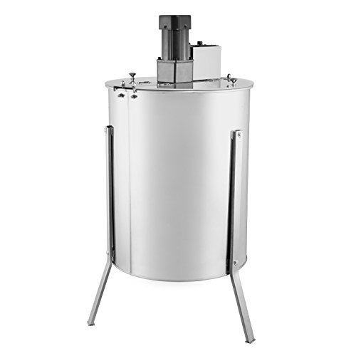Happybuy Electric Honey Extractor Stainless Steel 4 Frame