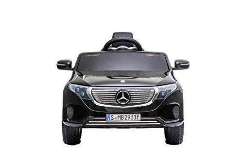 RIRICAR Coche eléctrico Mercedes-Benz EQC, Negro, Licencia Original, Asiento de Cuero, Puertas...