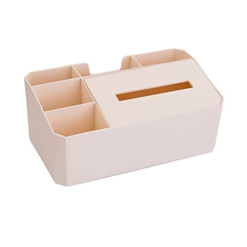 RXL Exquisito Caja de pañuelos Caja de pañuelos multifunción Caja de Almacenamiento de Control Remoto Mesa de café Creativa Caja de pañuelos for el hogar Simple (Color : Beige)