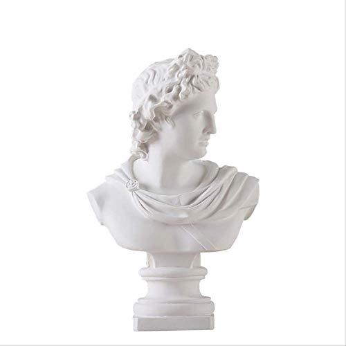 WGLG Estatuas Adornos Para el Hogar Apolo Avatar Yeso Busto Mitología Griega Estatua Decoración del Hogar Resina Artesanal Sketch