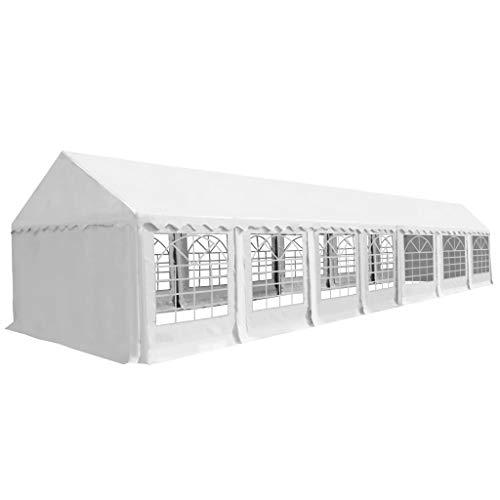 vidaXL Zeltstoff Dachplane Ersatzdach Ersatzplane Ersatzteile Seitenteile Seitenplane Dach für Pavillon Partyzelt Gartenzelt 6x14cm Weiß